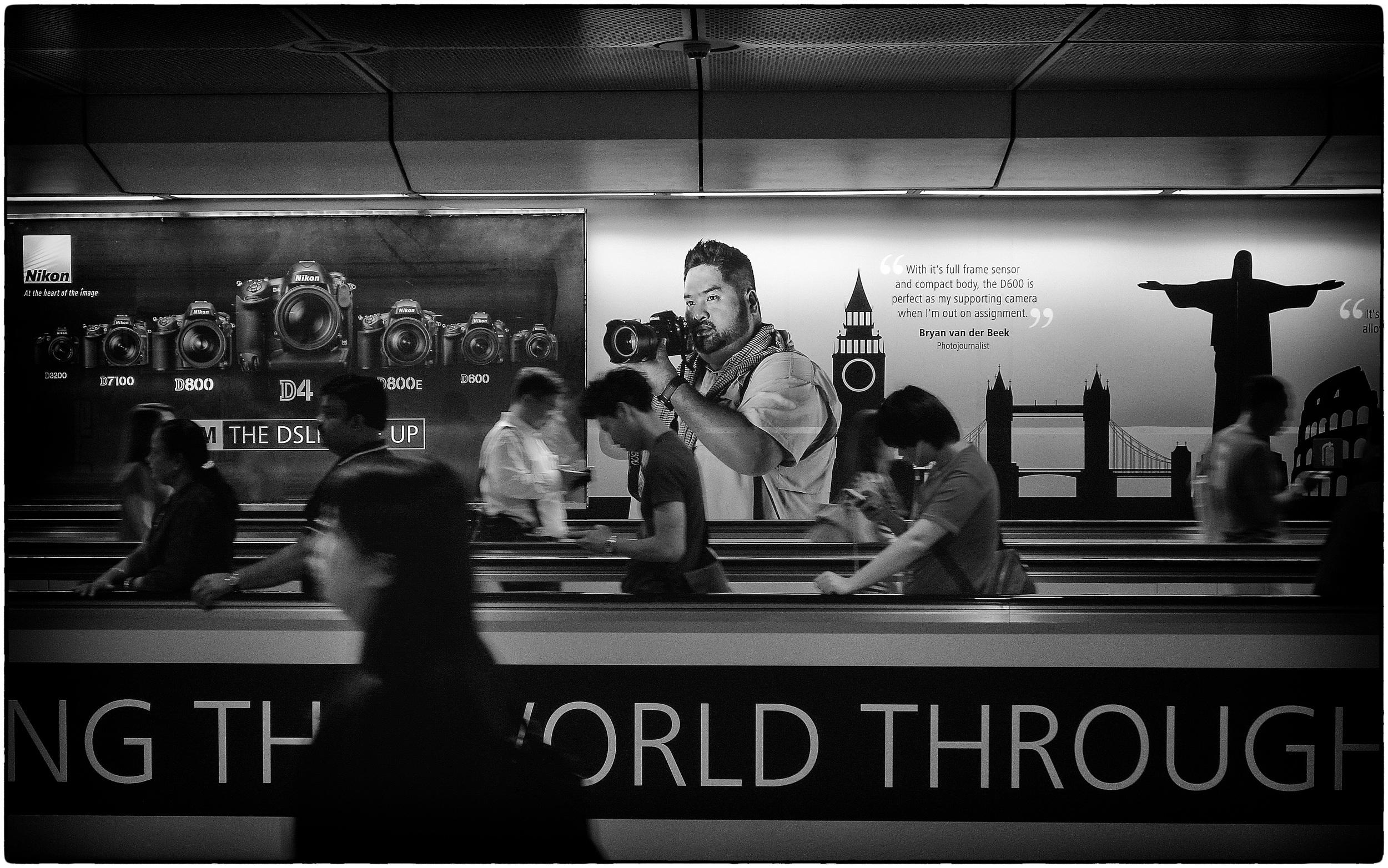 Seen at Dhoby Ghaut MRT Interchange in Singapore