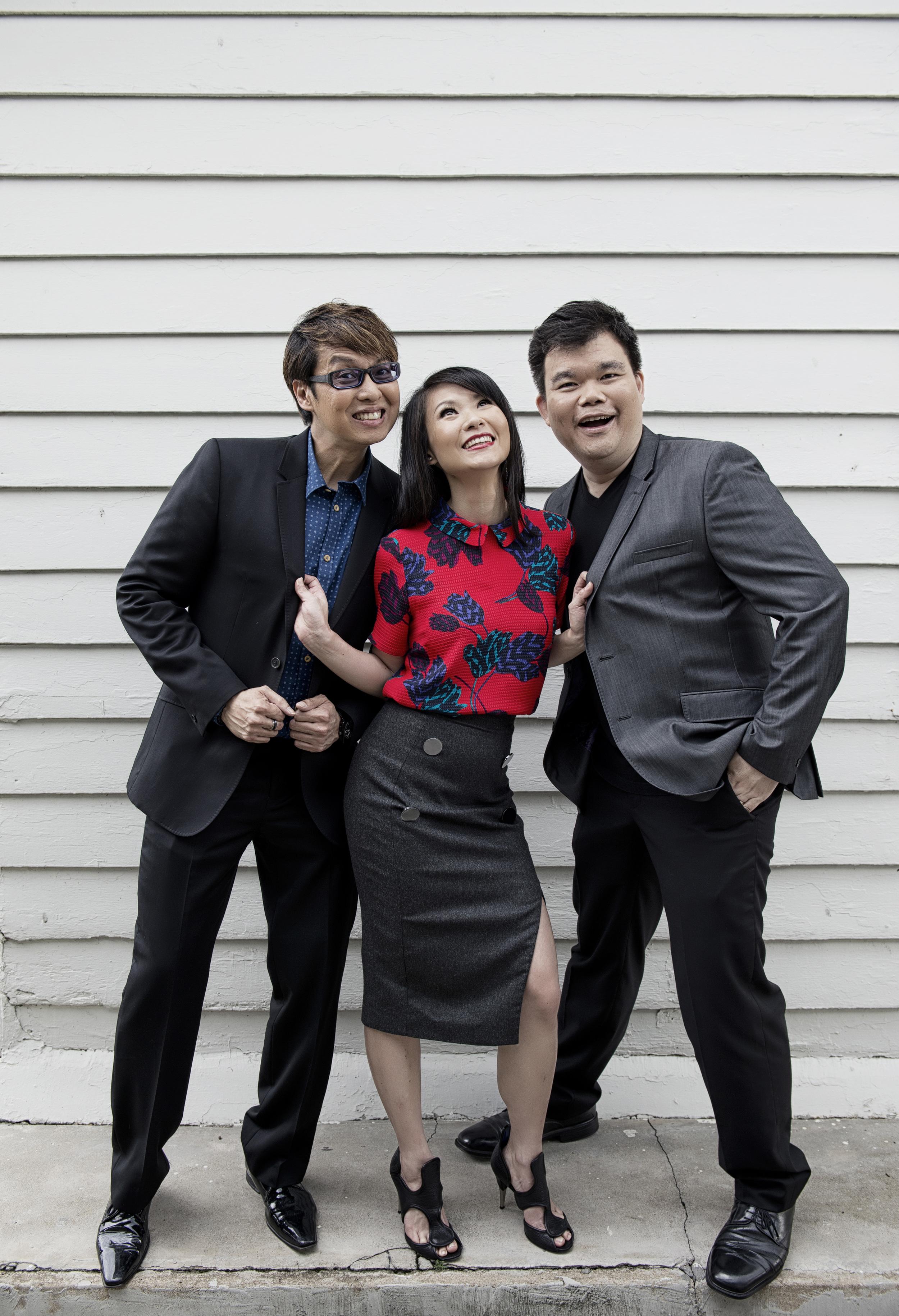 Glenn Ong, Marilyn Lee & Joe Augustine: DJs, Class 95FM