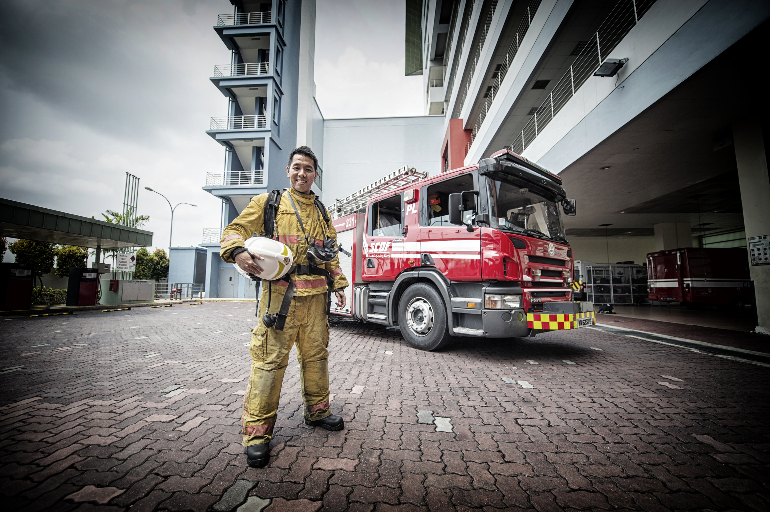 LTC Shaiful Herman, assistant director in SCDF's HazMat Department was its first overseas government scholar, youngest SCDF officer to be promoted to major and then lieutenant-colonel and one of the youngest officers to head a fire station.