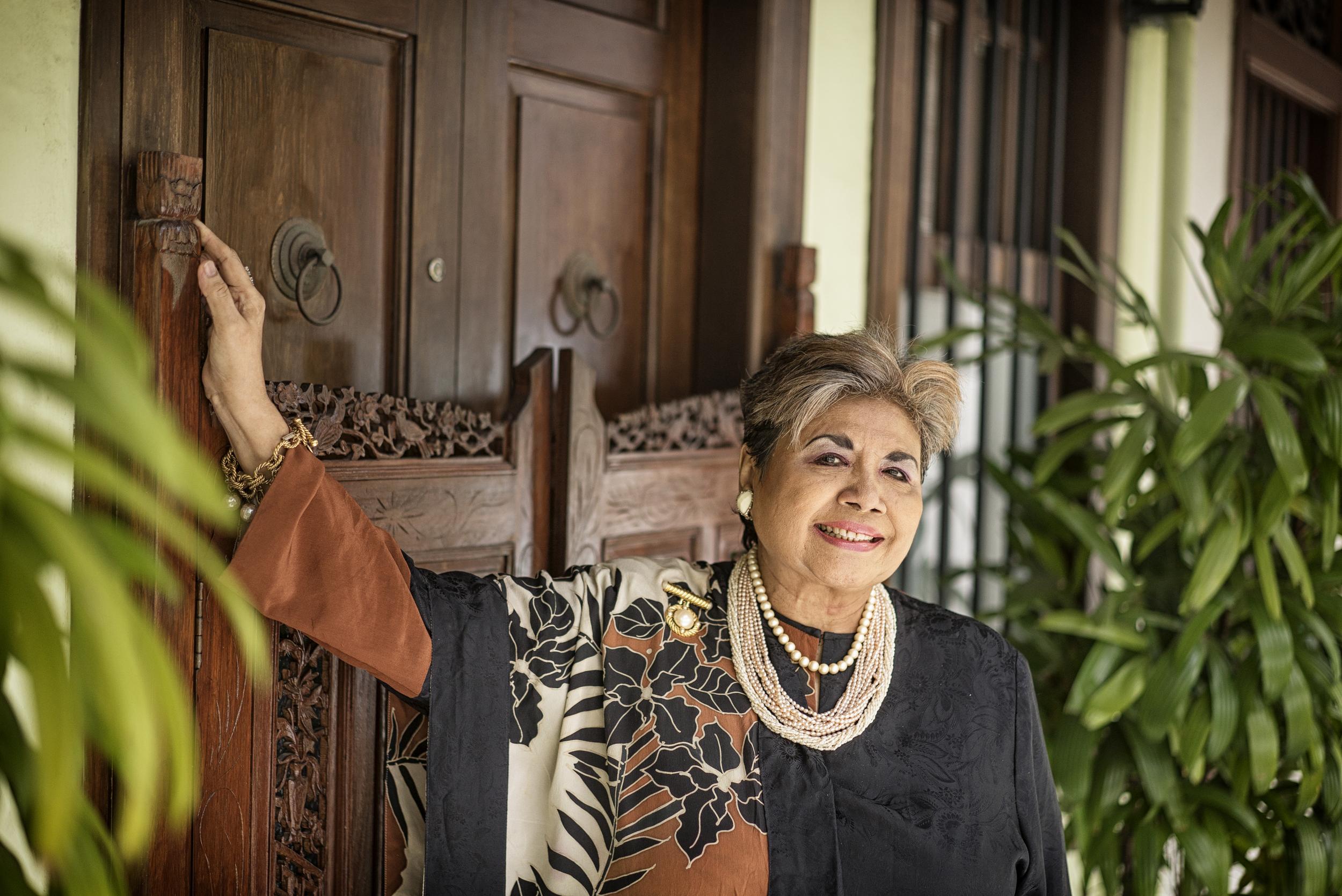 Aziza Ali opened Singapore's first fine-dining Malay restaurant Aziza's, on Emerald Hill.