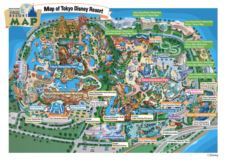 Tokyo Disney Resort Map