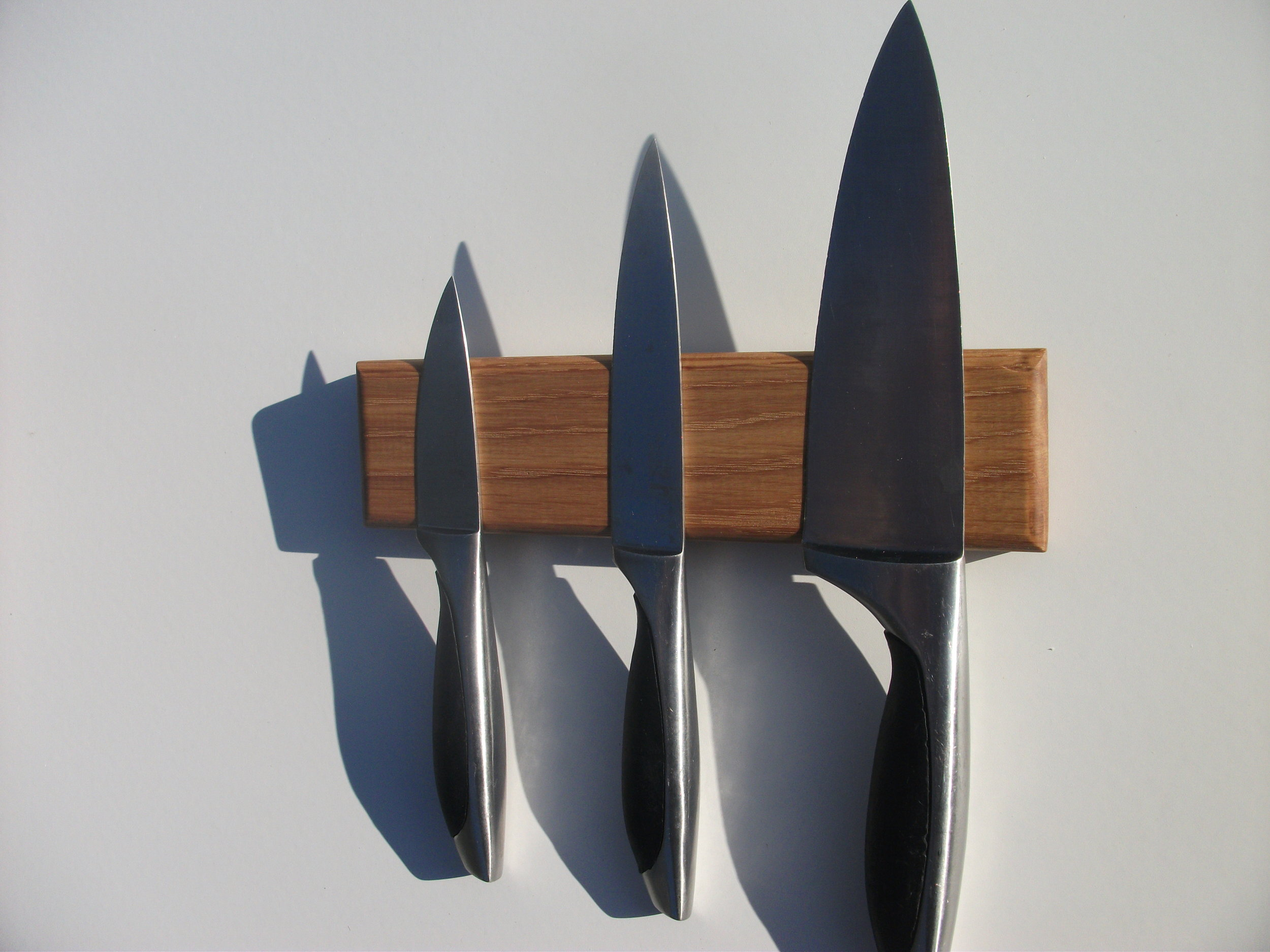 3-Knife Oak Rack