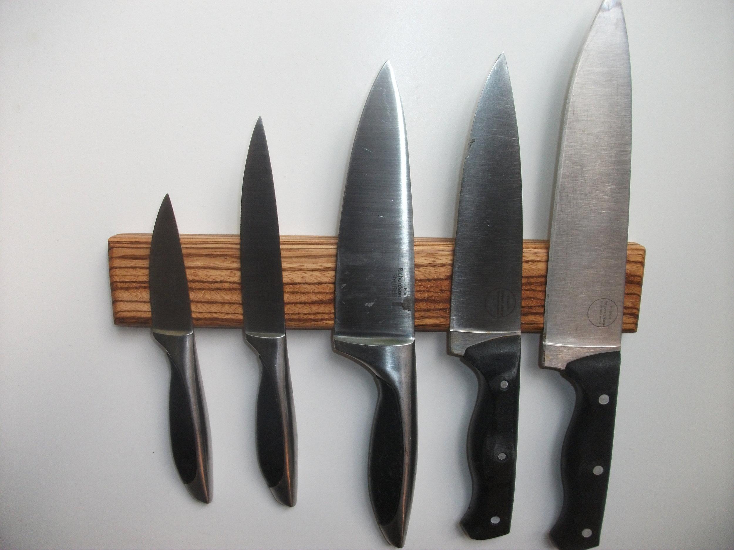 5-Knife Zebrano Rack