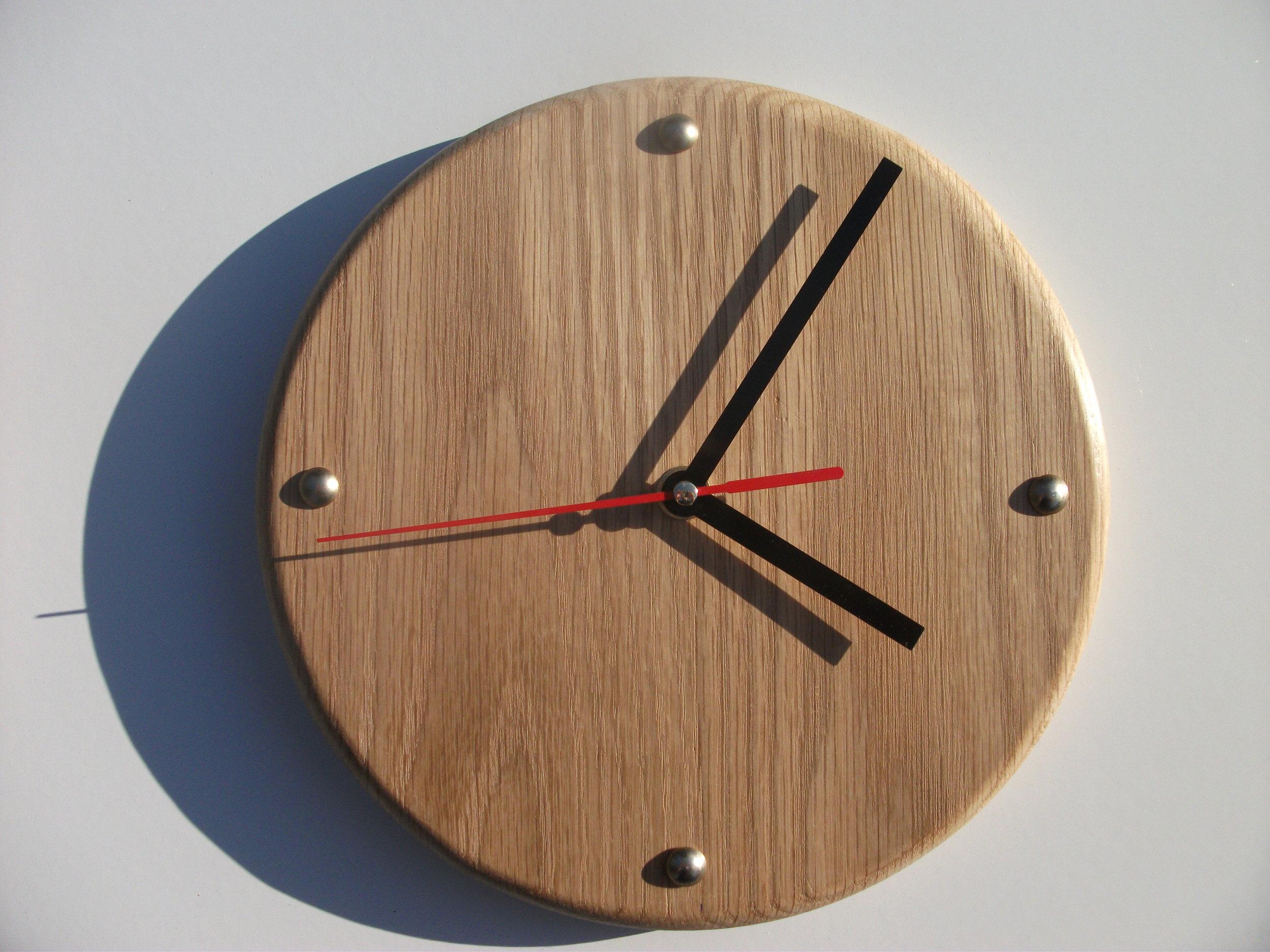 Oak Wall Clock