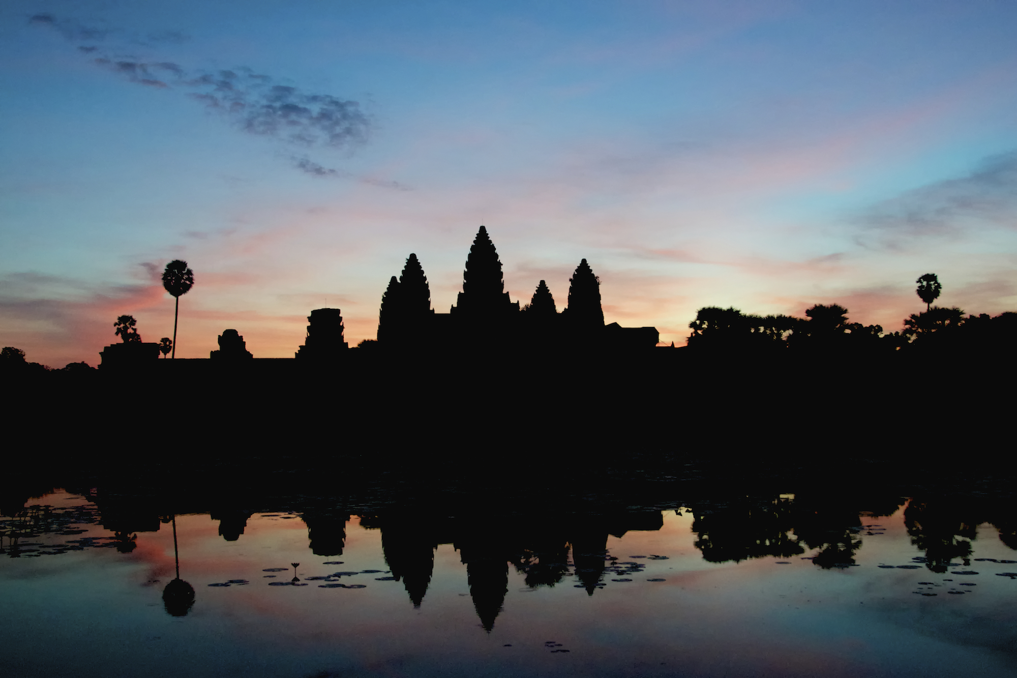 Angkor Wat Silhouette at Dawn - Copyright 2014 Ralph Velasco.jpg