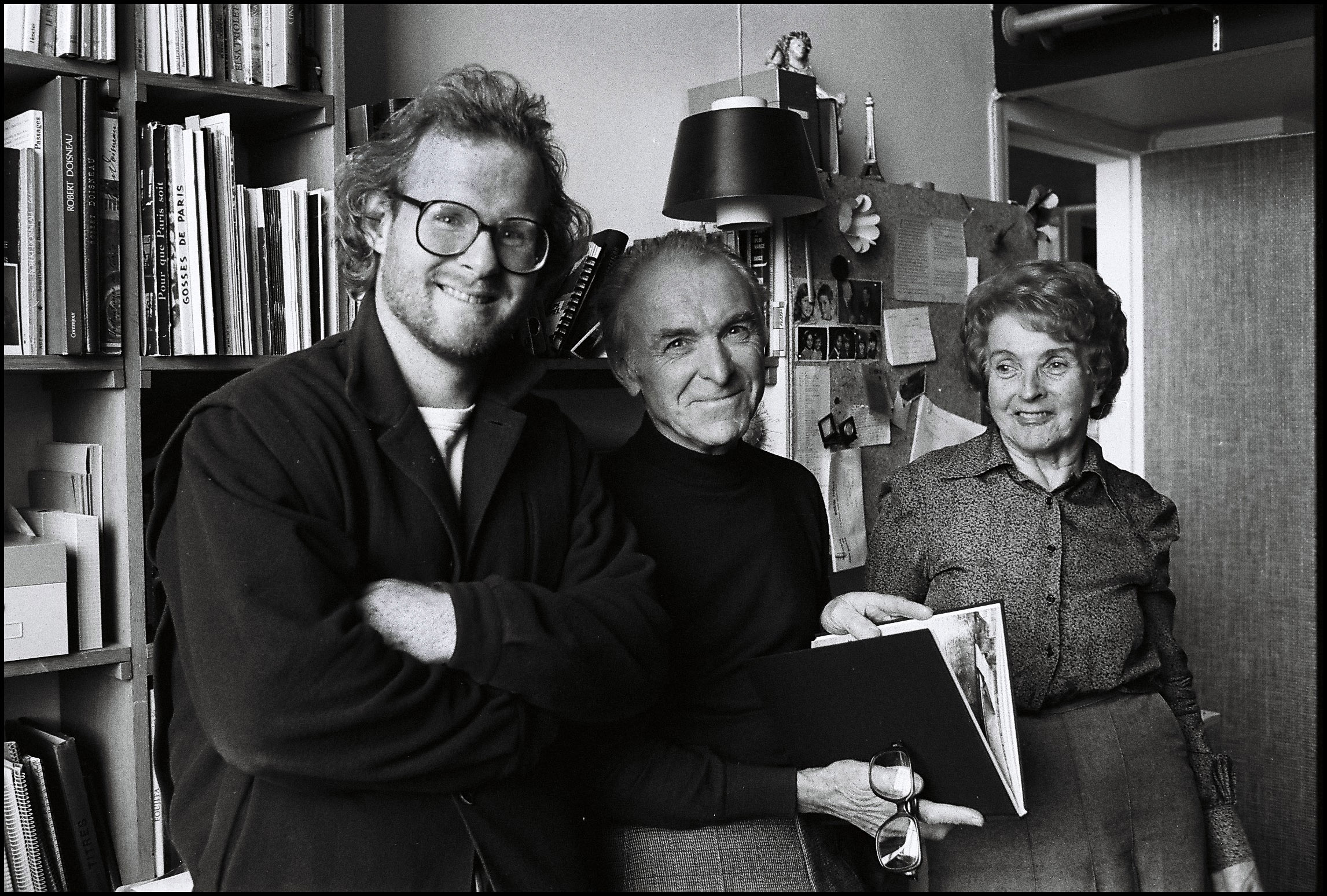 Peter Turnley with Robert Doisneau, and his wife, Paris, 1981