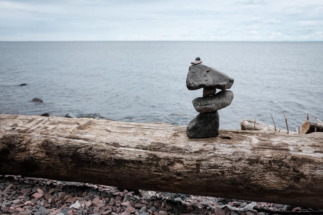 Balance ~ Lake Superior ©Valérie Jardin