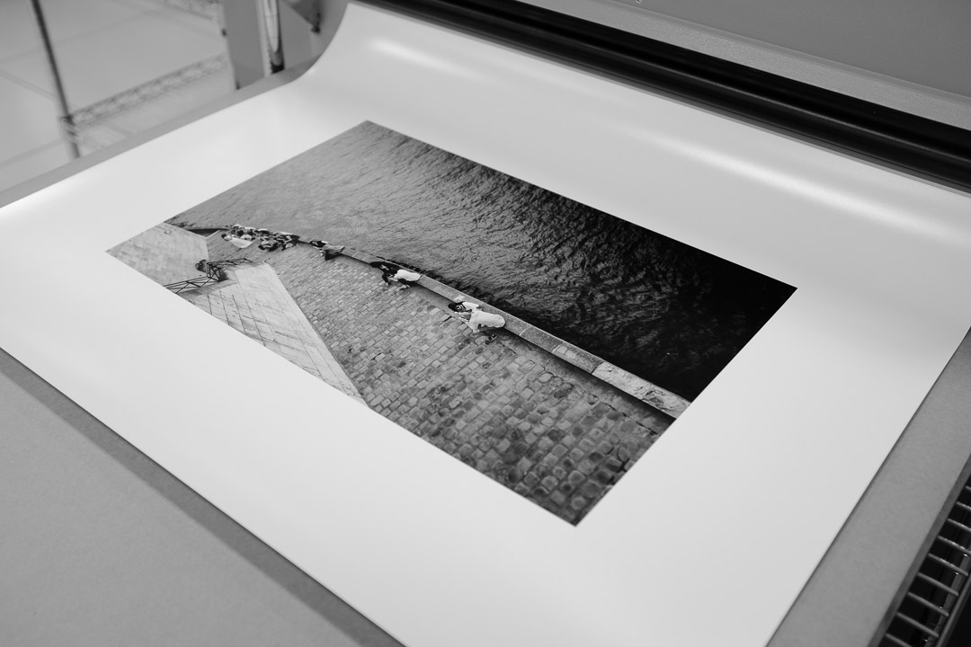 One of Valerie's photographs being printed at WHCC in 2016