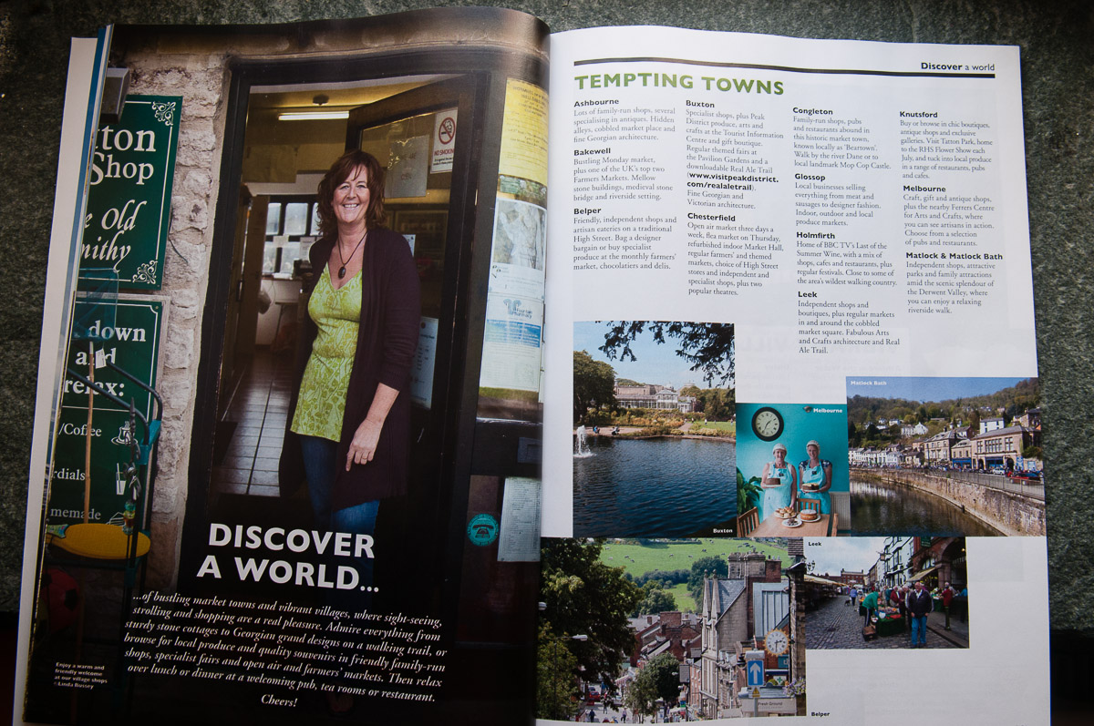 Nice spread of my images in Visit Peak & Derbyshire Visitor Guide