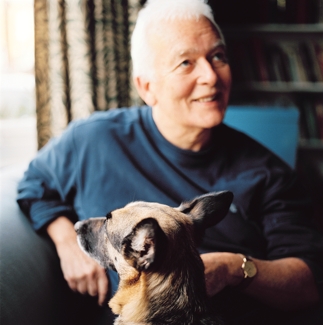 Andrew Davies  The screen writer at home for  UCL People magazine