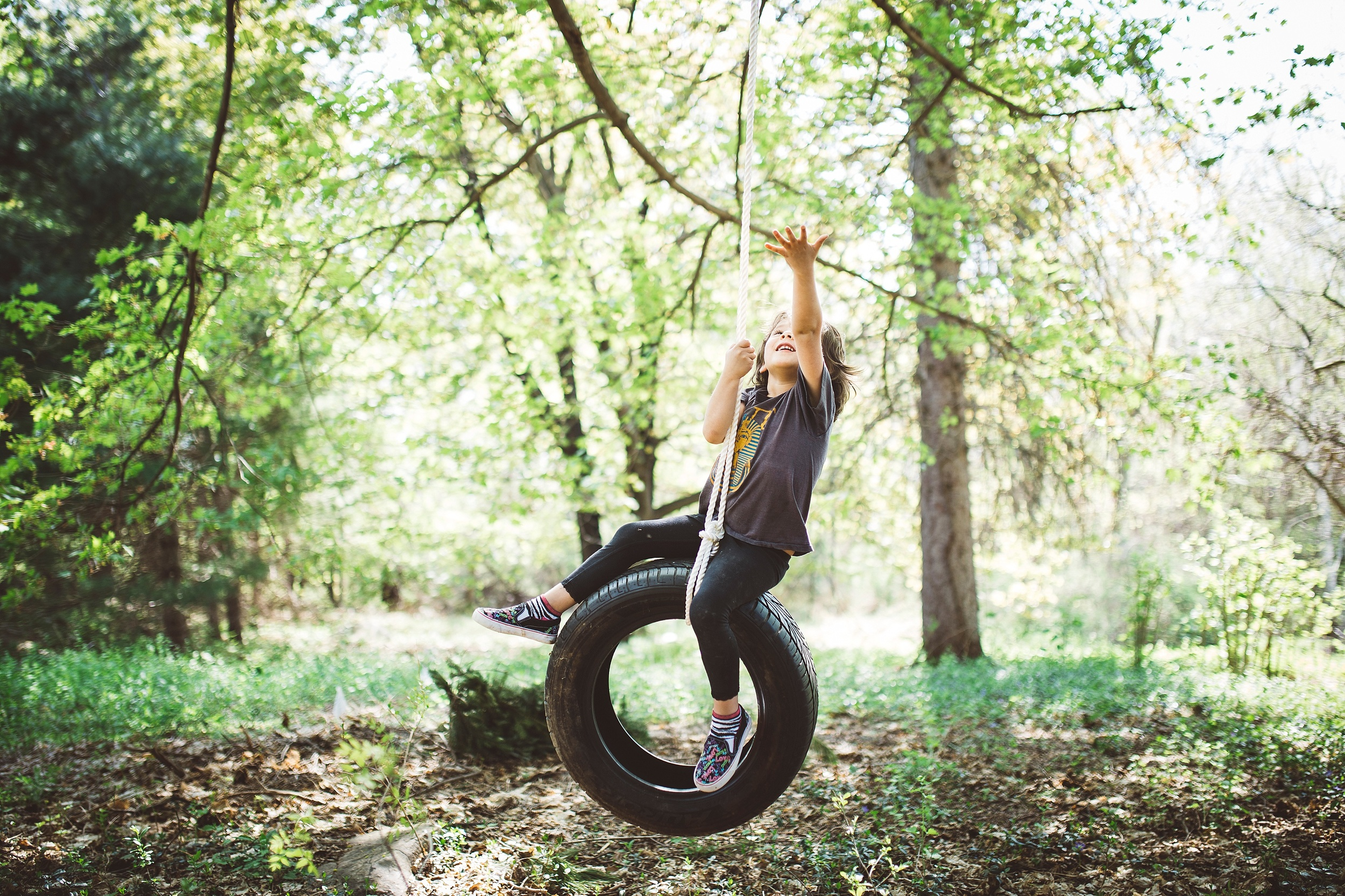 may 4-15 These city girls need some country air and a tire swing that hangs from a giant maple every now and then.