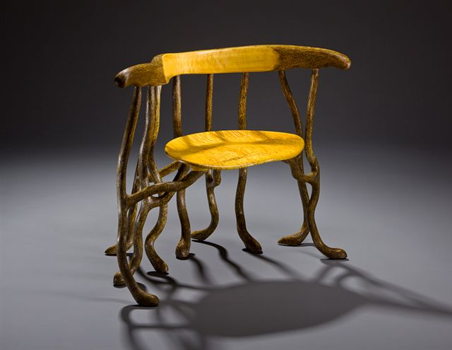 Curly Soft Maple seat