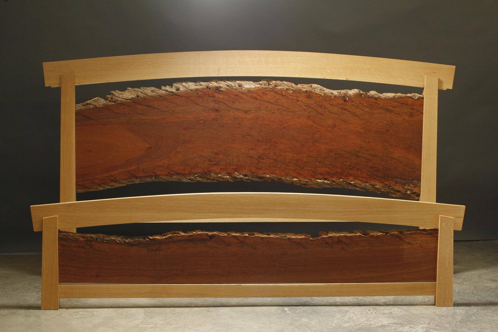 New England White Oak bed frame