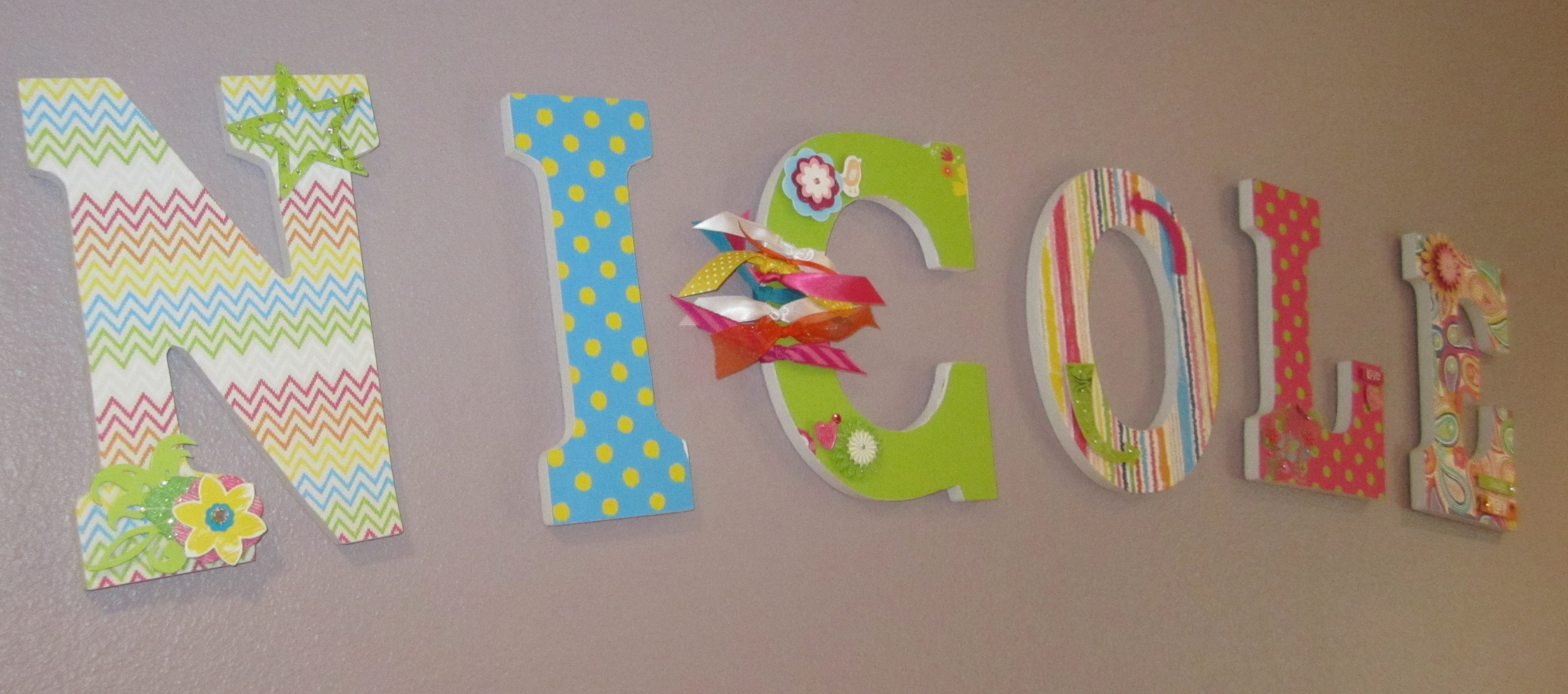 Wooden paper covered DIY letter tutorial.