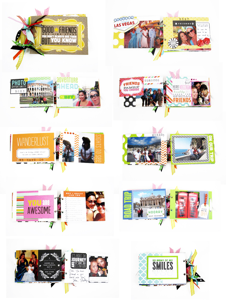 POCKET PAGES™ Mini Book tutorial step by step. scrapbooking page.