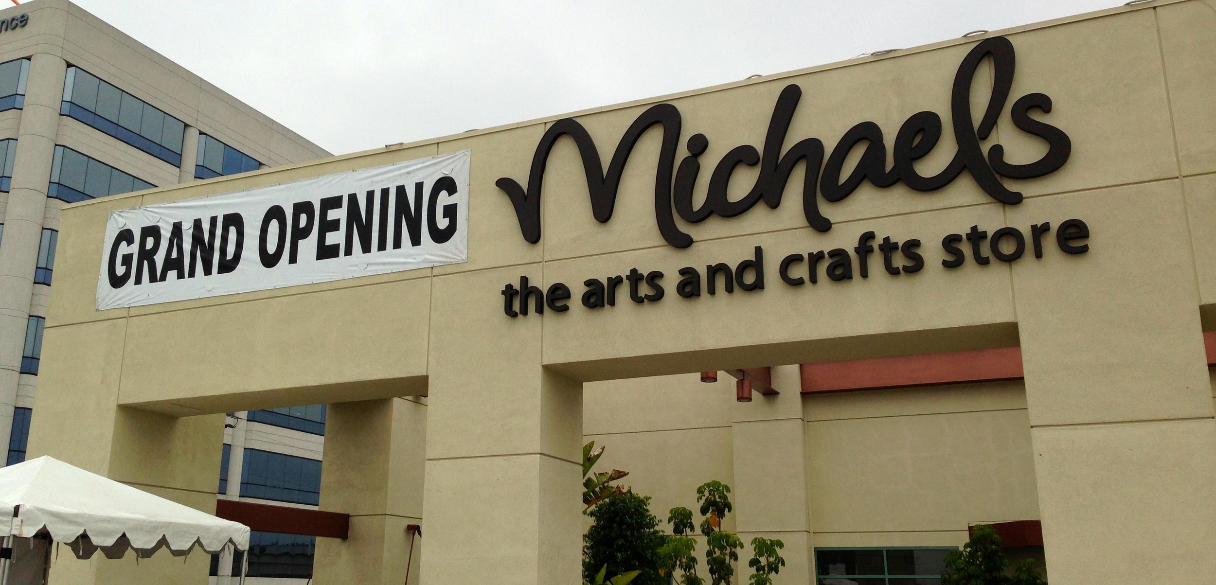 Michaels Grand Opening Santa Monica CA mambi make n take