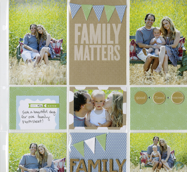 Banner Gift PL pocket pages layout scrapbooking. me & my BIG ideas blog, POCKET PAGES™ layout.
