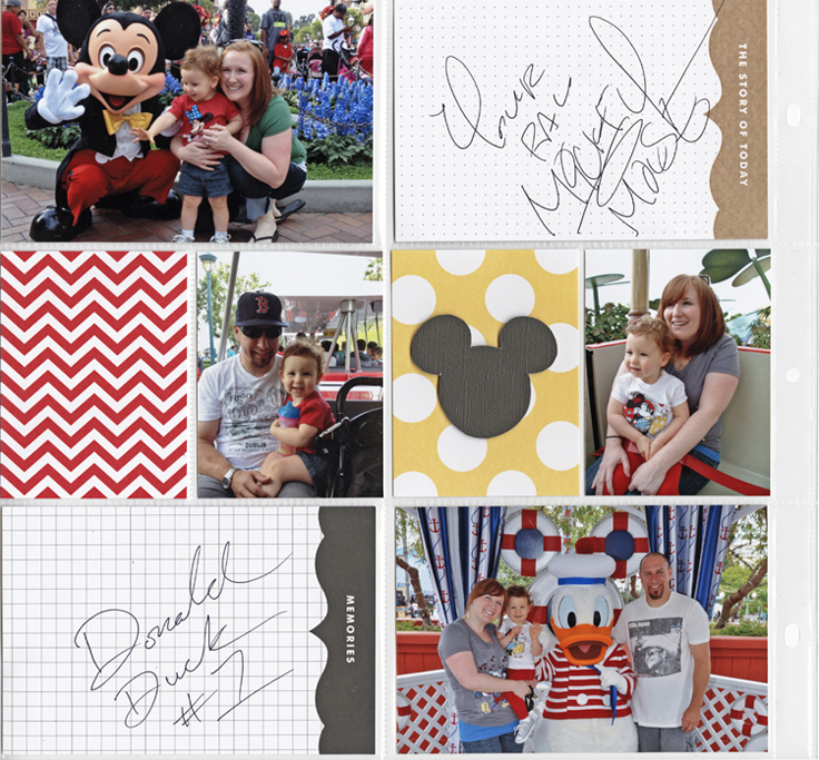 POCKET PAGES with Disney autographs for scrapbooking mambi me & my BIG ideas