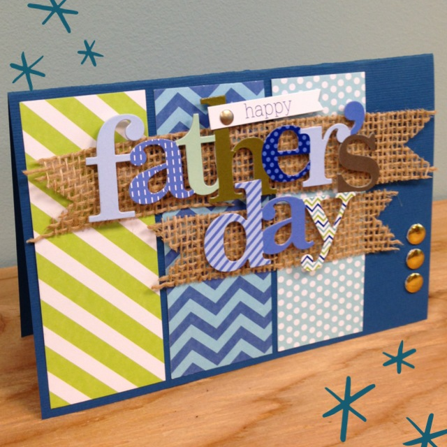 mambi Pocket Pages card for Father's Day - scraps and burlap  (me & my BIG ideas)