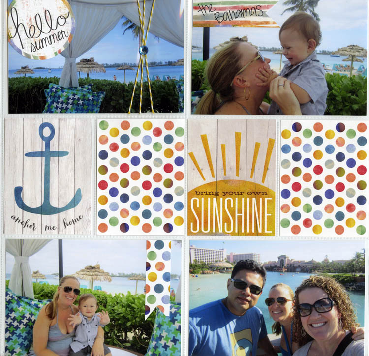 14 days of summer free printable giveaway, me & my BIG ideas. pocket pages card freebies.  Anchor, Sunshine, Polka Dots, hello summer.