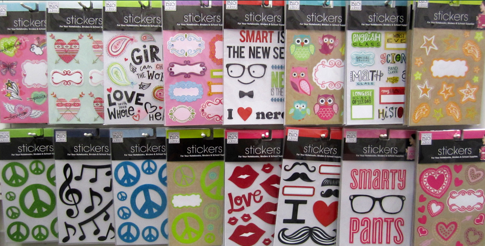me & my BIG ideas Binder Stickers in Target, all assortments shown. Also can be used for laptop stickers.