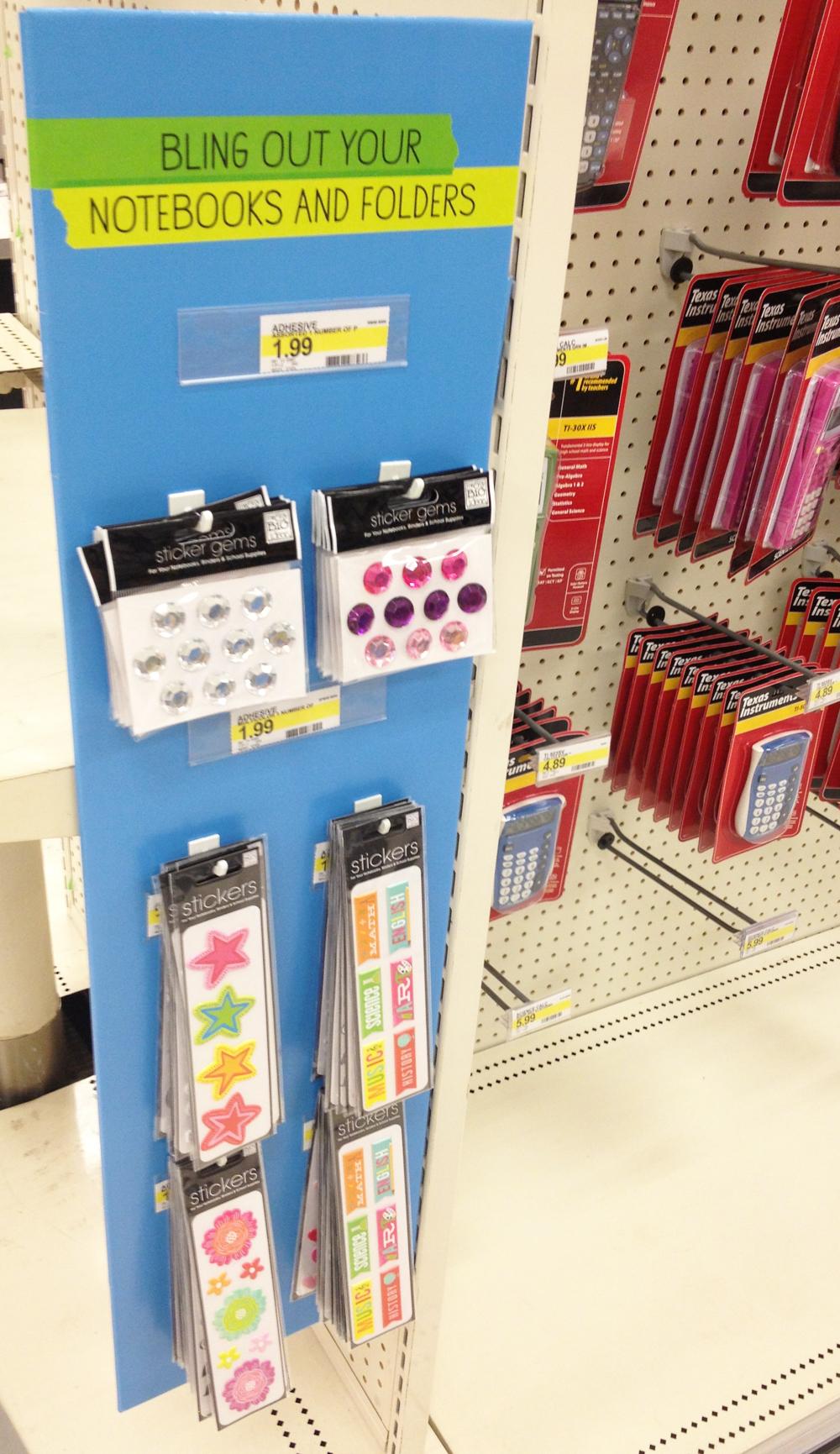 me & my BIG ideas Binder Stickers & gems (rhinestones) in Target. $1.99