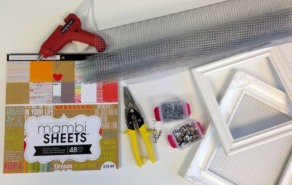 Supplies needed from mambi blog.