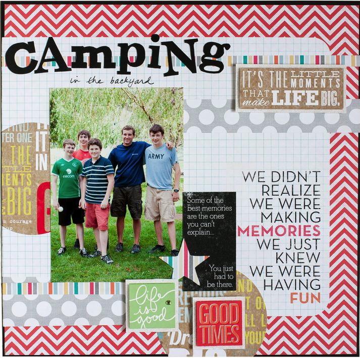 Camping Scrapbook Layout me & my BIG ideas page mambi blog