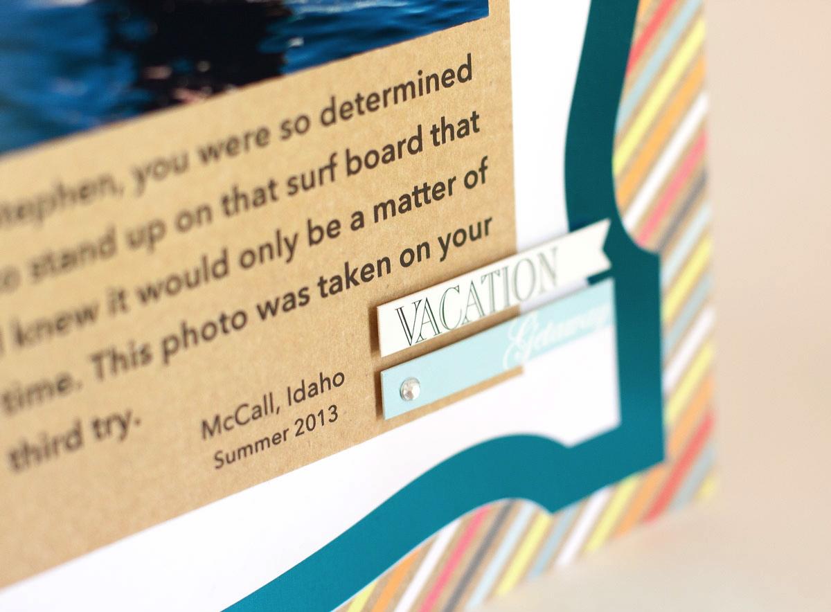 Close up mambi chipboard embellishments.