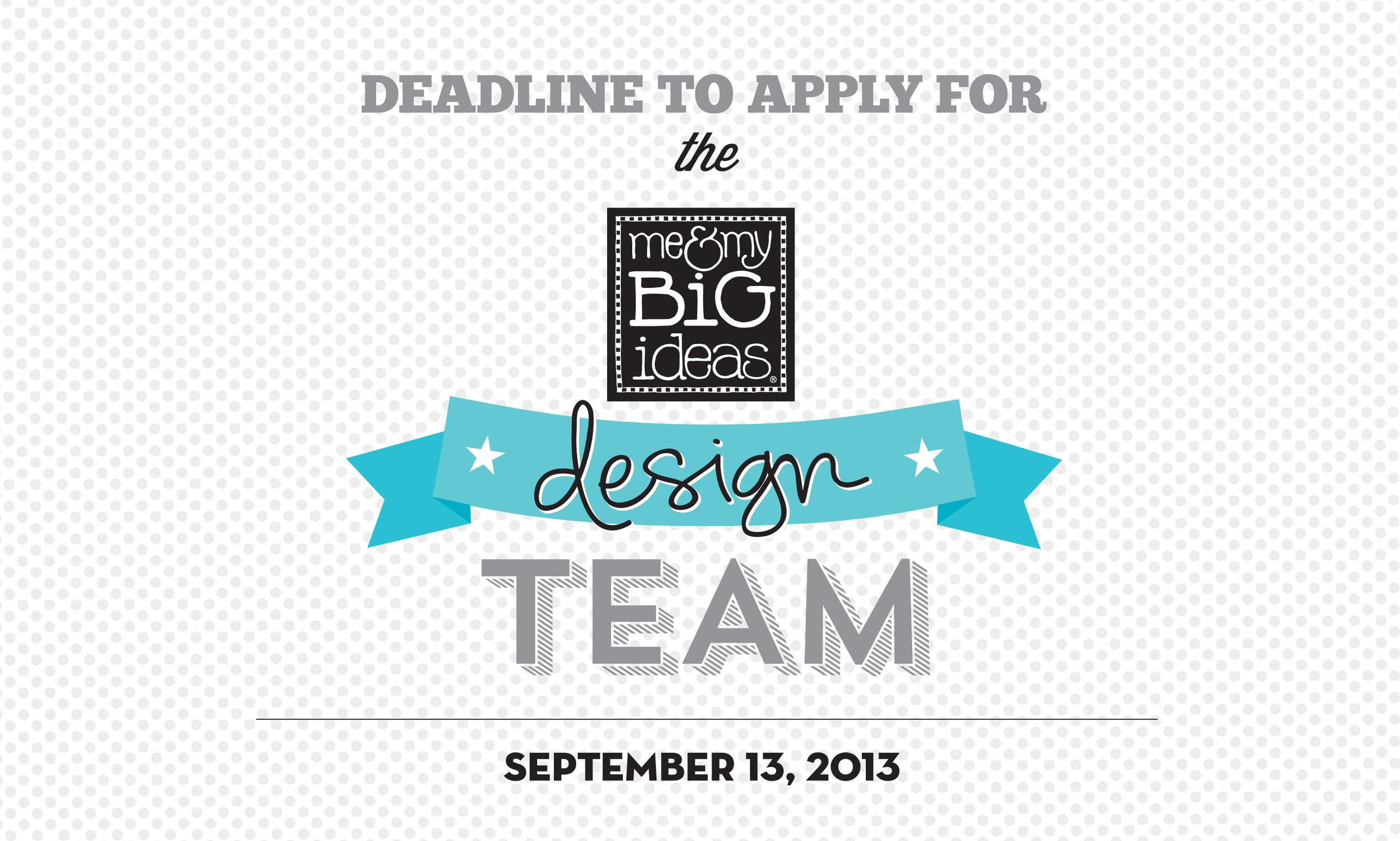 mambi design team call deadline announced! September 13th, 2013.