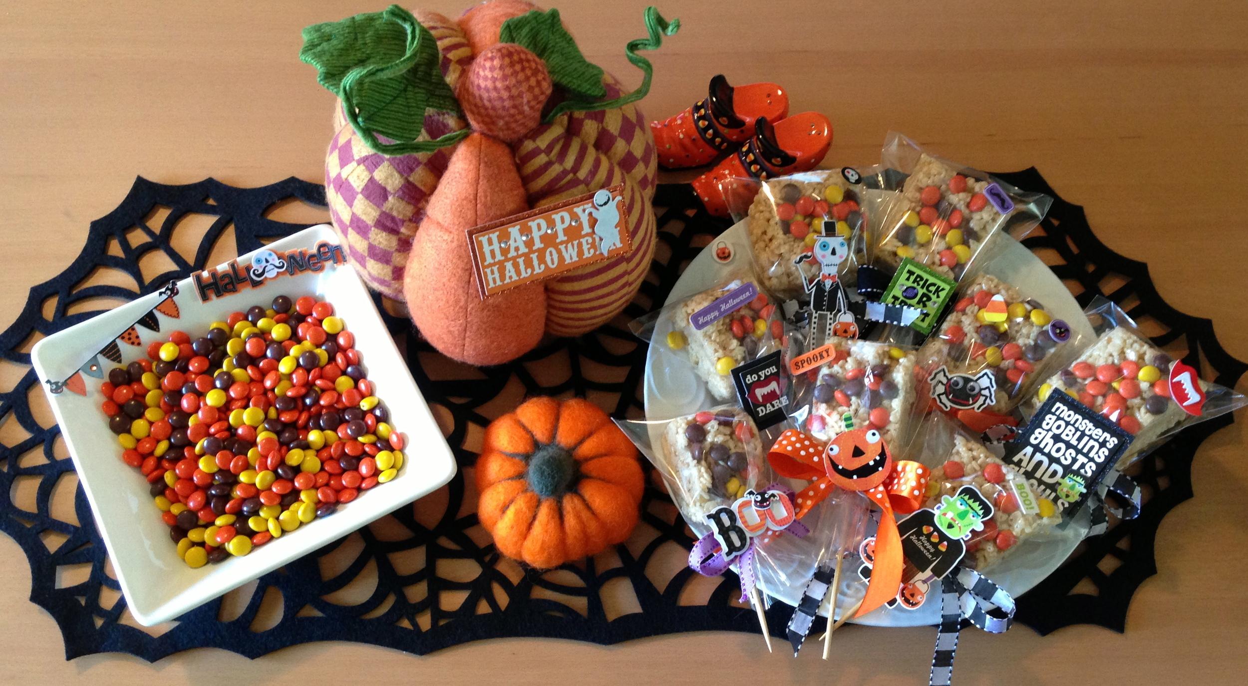 Halloween Rice Krispies mambi Decorations
