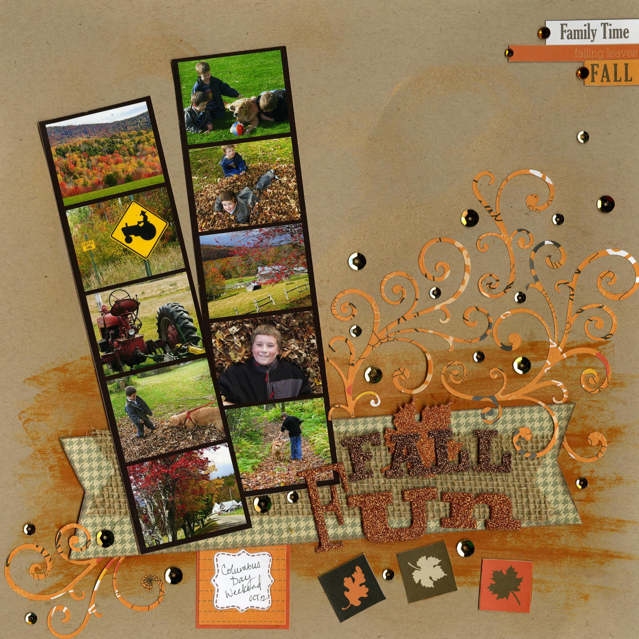 Fall Page with mambi KIT scrapbook layout.