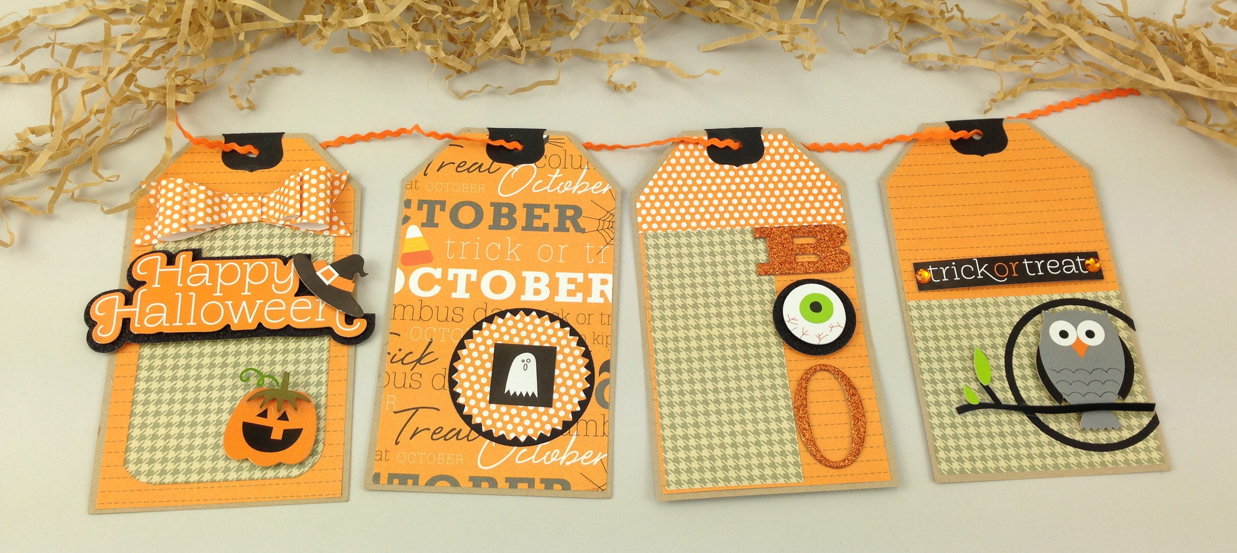 Gift tags made from scrapbook mambi KIT (me & my BIG ideas) Harvest, Fall, Halloween KIT