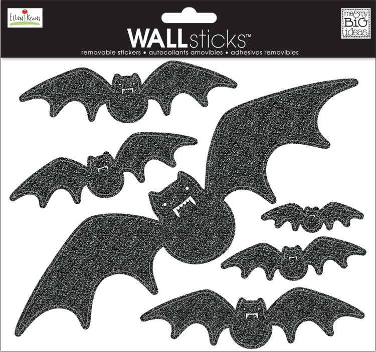 mambiSTICKS wall stickers halloween bats candy corn party decoration on mambi blog.