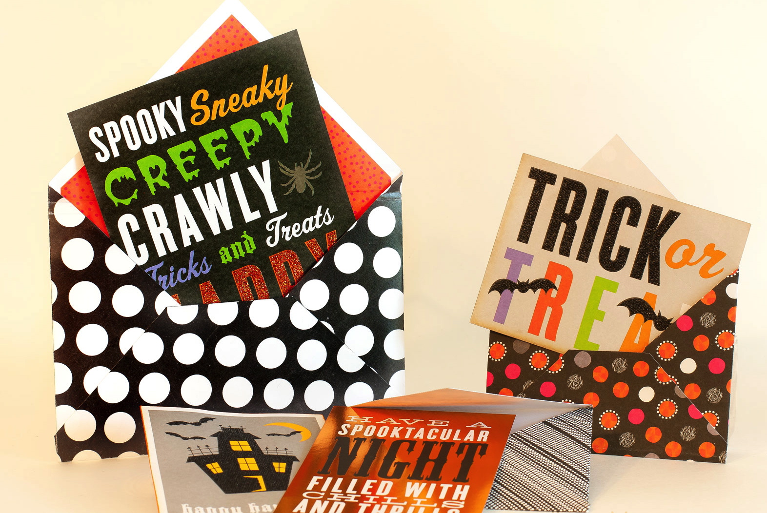 Great Halloween cards made from POCKET PAGES.