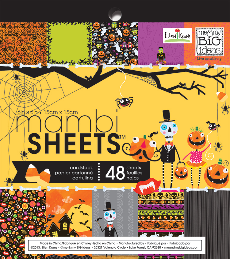 VCS-02 mambi Halloween Paper Pad. Available at Michaels. Witch hat covered in paper, so fun and festive for a Holiday Decoration!