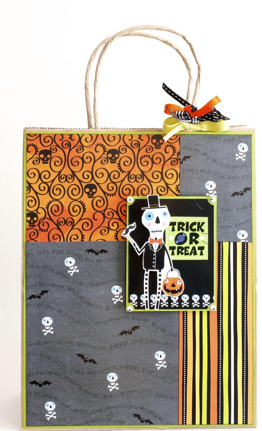 mambi Halloween Gift Bag. DIY, such a cute papercraft.
