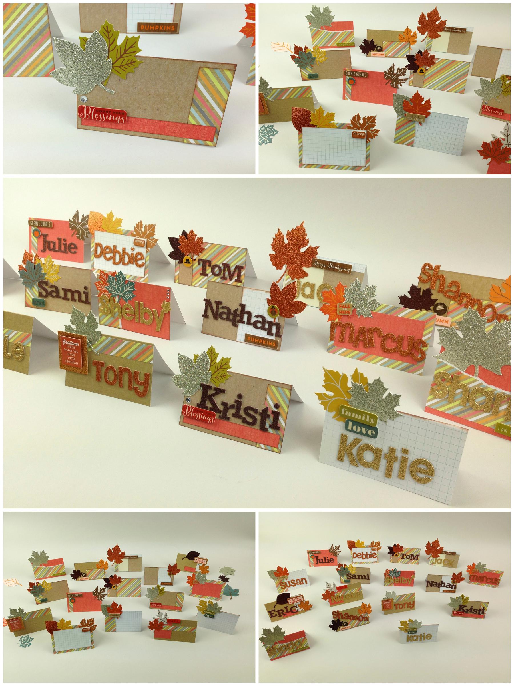 mambi Turkey Day name cards. me & my BIG ideas blog.