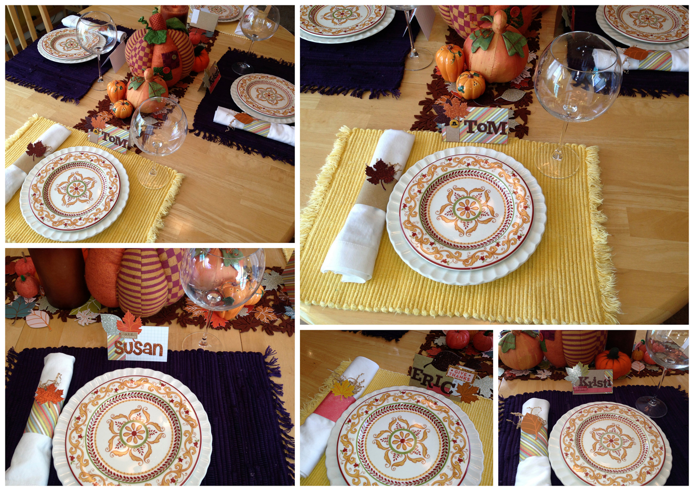 Place setting idea for scrapbookers - your own place cards! everything you need at Michaels & in the mambi SHOP!