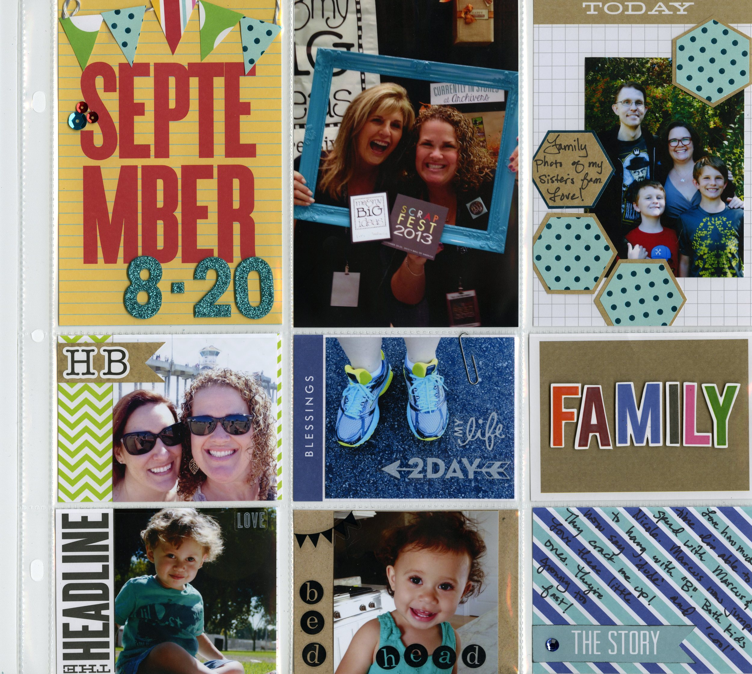 pocket pages layout. everyday scrapbook page using mambi stickers, alphas.
