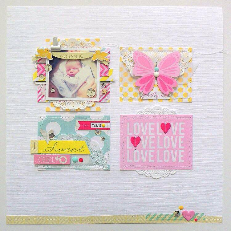 Baby Girl POCKET PAGES mambi layout.