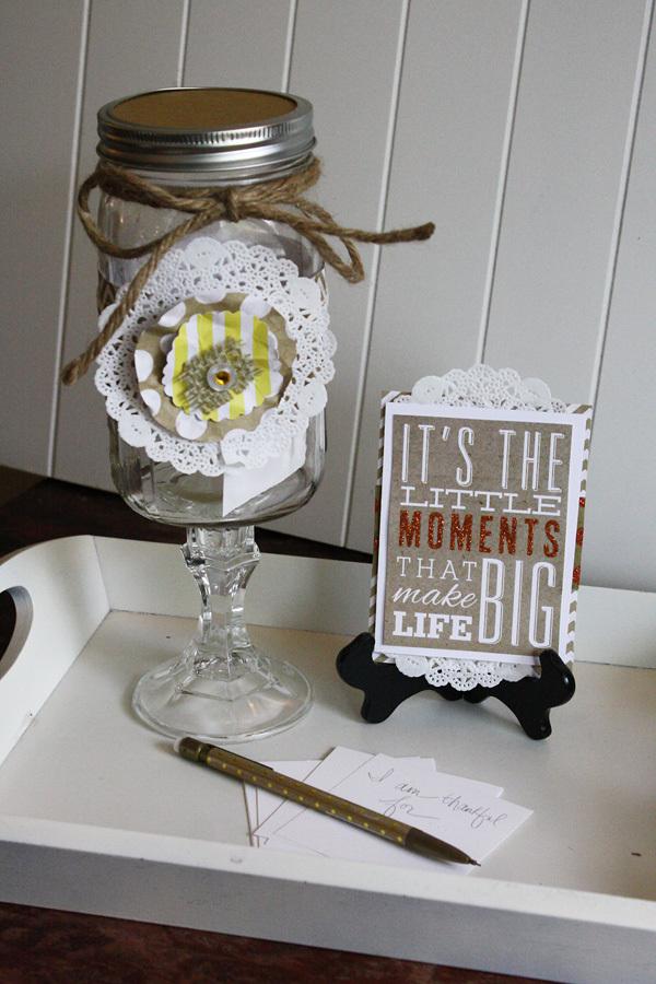 Gratitude Jar on the mambi blog using POCKET PAGES.