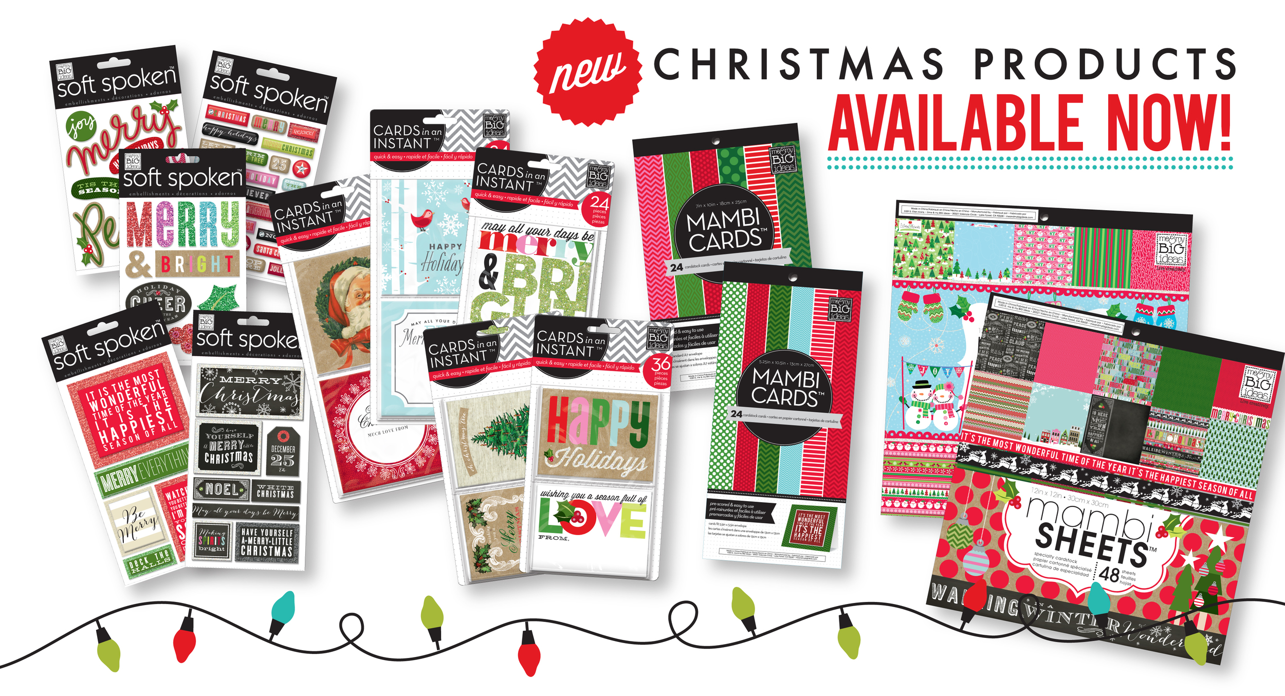 Chrismas cards in an INSTANT!!!  Available on the shop.meandmybigideas.com SHOP!