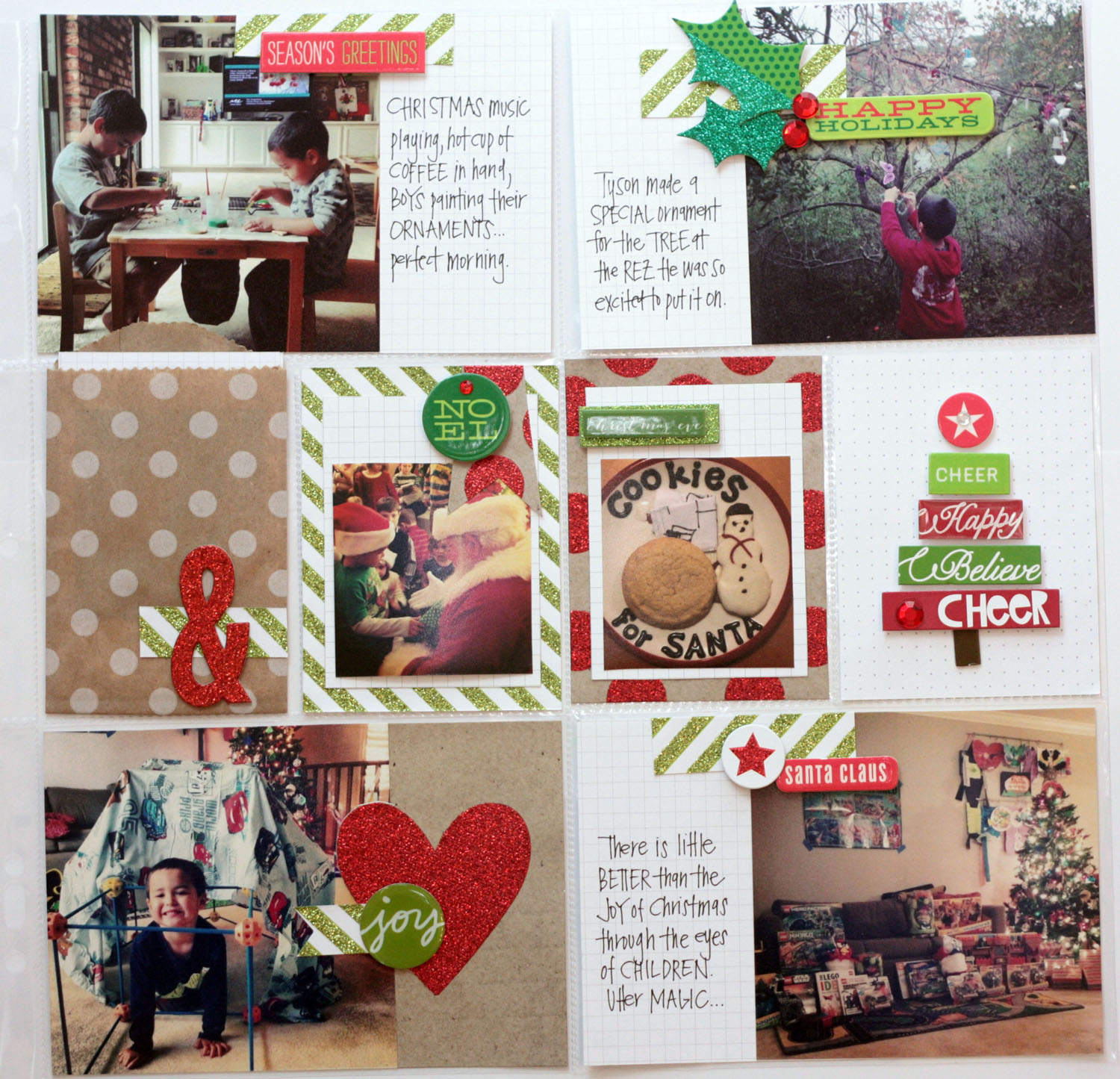 Christmas POCKET PAGES layout with me & my BIG ideas cards and soft spoken.