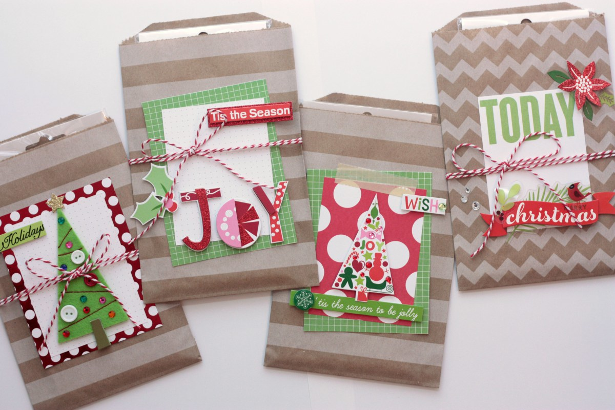 Christmas Goodie Bags with me & my BIG ideas POCKET PAGES and soft spoken embellishments.