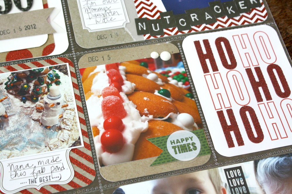 Ho Ho Ho Christmas layout using mambi CARDS in an INSTANT.