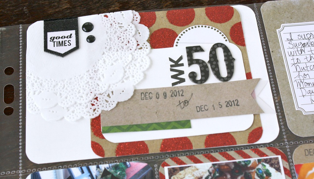 Dwo December layouts. One is a POCKET PAGES layout using the holiday papers, stickers and cards. The other is a 12x12 layout using card stock, paper from holiday and chalk stack, mambi CHIPS, specialty cards, puffy snowflakes, vellum, and a few enamel dots. More to come!