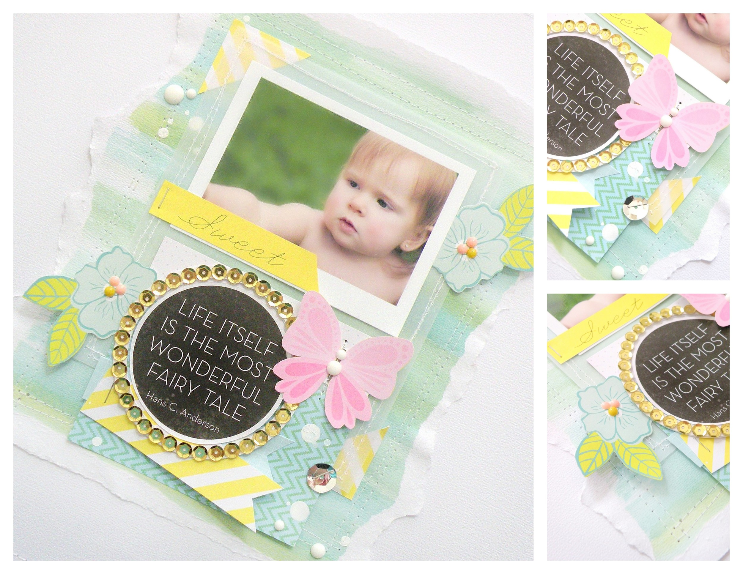 mambi layout on blog.  sweet fairy tale scrapbook page.