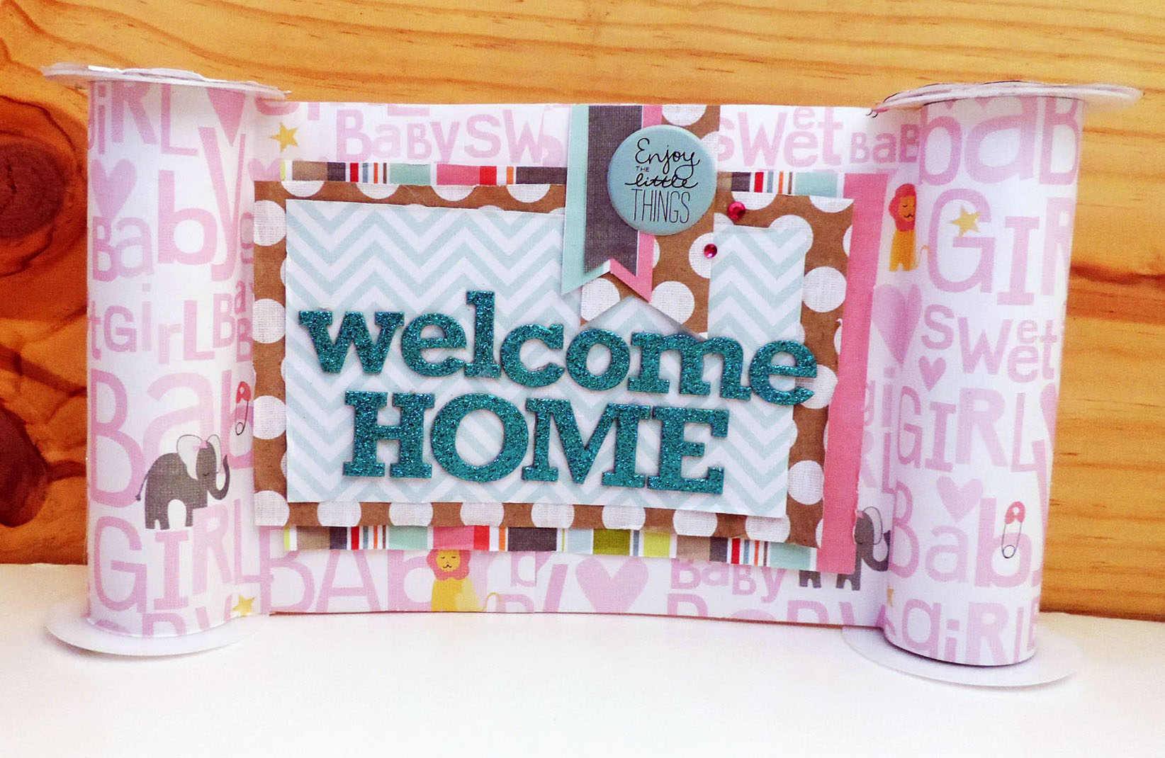 mambi cha baby banner - Baby Girl Welcome Home banner on the mambi blog.