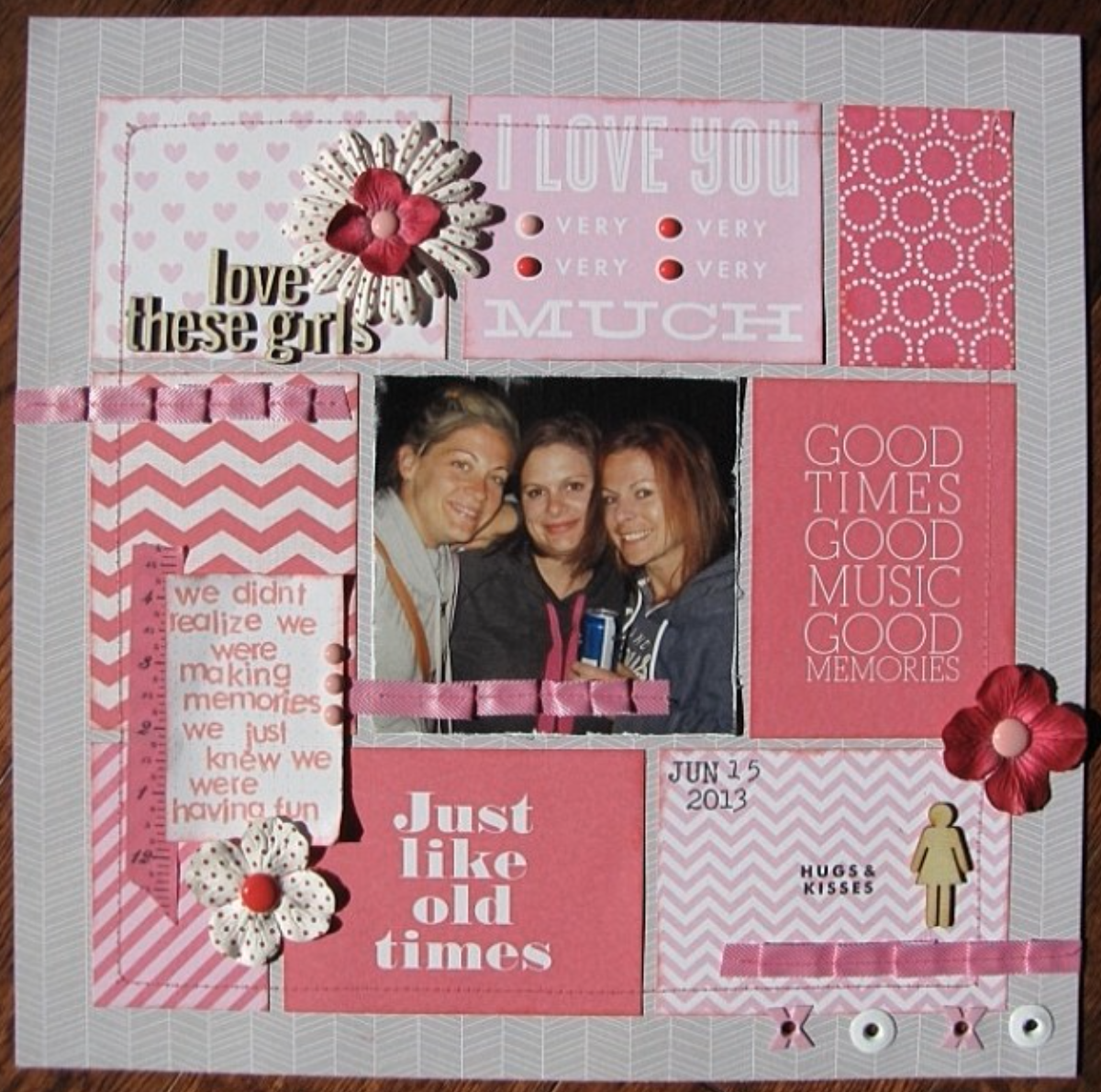 mambi POCKET PAGES layout. Pink and fun friends page..png